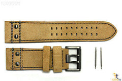 Luminox 1820 1830 Atacama 23mm Tan Leather Watch Band Strap w/ 2 Pins 1840 1850