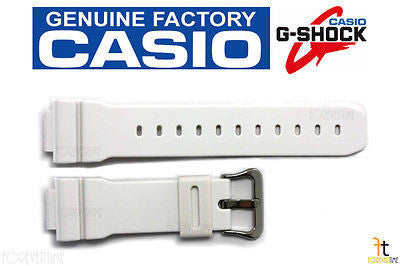 CASIO G-Shock GW-6900A-7 16mm Original White Rubber Watch BAND GW-M5600A-7 - Forevertime77