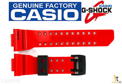 CASIO G-SHOCK G'Mix GBA-400-4A Original Red Rubber Watch Band Strap - Forevertime77