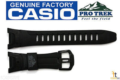 CASIO Pro Trek Pathfinder PRG-110Y Black Rubber Watch BAND Strap PRW-1300Y - Forevertime77