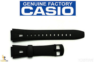 CASIO AQ-190W Original 18mm Black Rubber Watch BAND Strap - Forevertime77