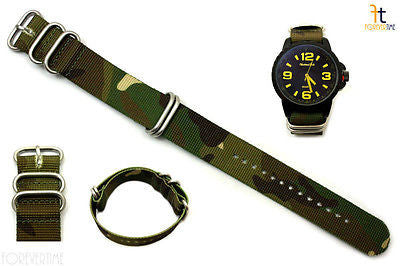 20mm Fits Luminox Nylon Woven Camouflage Watch Band Strap 4 S/S Rings - Forevertime77