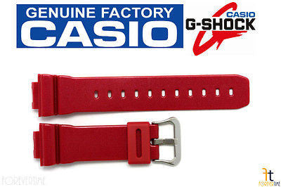 CASIO DW-6900MF-4 G-Shock Original 16mm Red (Glossy) Rubber Watch Band Strap - Forevertime77