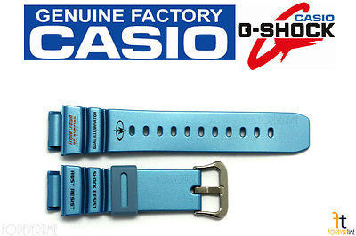 CASIO G-Shock G-9100TC-2 21mm Original Blue (Glossy) Rubber Watch BAND Strap - Forevertime77