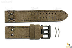 Luminox 1833 1853 Atacama 23mm Brown Leather Watch Band Strap w/2 Pins