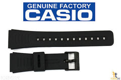 Casio 71603998 Genuine Factory Replacement Black Rubber Watch Band fits CMD-40 DBC-150 DBC-30 DBC-310 DBC-63 DBC-81 DBC-W150