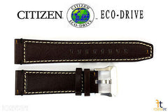 Citizen 59-S52829 Original Replacement 23mm Brown Leather Watch Band Strap