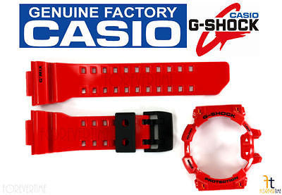 CASIO G-Shock G'Mix GBA-400-4A Original RED Rubber Watch BAND & BEZEL Combo - Forevertime77