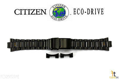 Citizen 59-S01091 Original Replacement Black Ion Plated Stainless Steel Watch Band Bracelet - Forevertime77