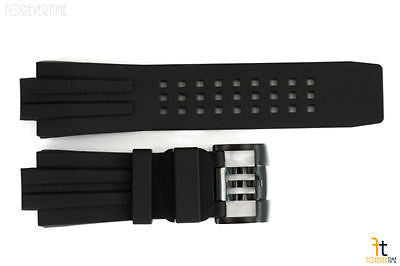 Luminox 1500 1510 22mm Deep Diver Black PU Rubber Watch Band Black Buckle - Forevertime77