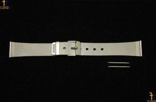 18mm Fits Skagen Stainless Steel Mesh W/2 SPRING BARS FITTING Watch Band Strap - Forevertime77