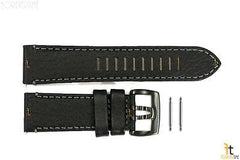 Luminox 1861.BO Valjoux Field Chrono 26mm Black Leather Watch Band Strap