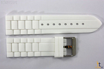 20mm White Silicon Rubber Watch BAND Strap - Forevertime77