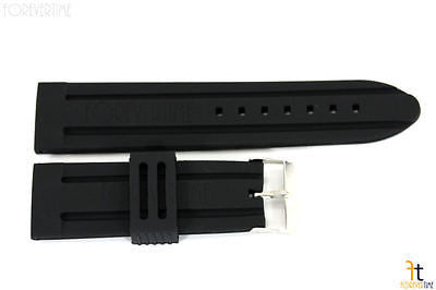24mm Fits Kenneth Cole Black Silicon Rubber Watch BAND Strap - Forevertime77