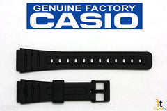 Casio 71604002 Genuine Factory Replacement Black Rubber Watch Band fits DW-6600G DW-6630B DW-8400 DW-8700 F-105W F-106W F-28W F-91W F-93W F-94WA