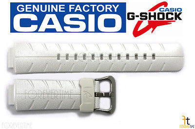 CASIO G-SHOCK G-300LV-7A 16mm Original White (Glossy) Rubber Watch BAND Strap - Forevertime77