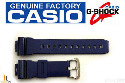 CASIO DW-6900CC-2 G-Shock Original 16mm Blue (Glossy) Rubber Watch Band Strap - Forevertime77
