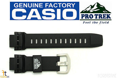 CASIO Pathfinder Protrek PRW-2500 18mm Black Rubber Watch Band PRW-5100 - Forevertime77