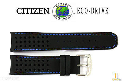 Citizen 59-S52492 Original Replacement 22mm Black Leather Watch Band Strap - Forevertime77