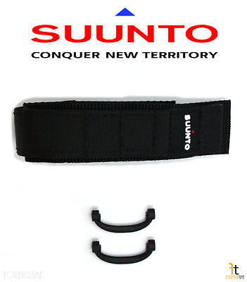 Suunto Vector ORIGINAL Black 20mm Watch BAND Strap w/ 2 Attachments - Forevertime77