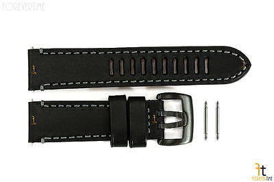 Luminox 1801 Field Auto 23mm Black Leather Watch Band Strap - Forevertime77