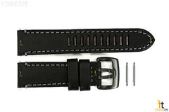 Luminox 1801 Field Auto 23mm Black Leather Watch Band Strap