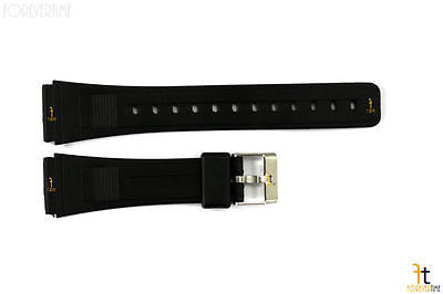 20mm Fits AQ-49 CASIO Black Rubber Watch Band AQ-14W AQ-35 AQ-45 AQ-46 AQ-49E - Forevertime77