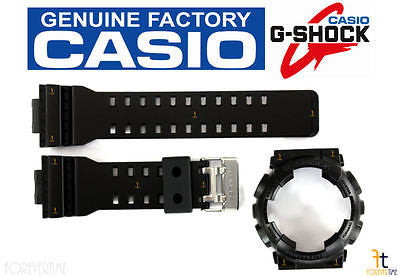 CASIO G-Shock GA-100CF-1A Original BLACK Rubber Watch BAND & BEZEL Combo - Forevertime77