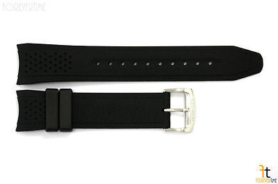 Citizen 59-S52587 Original Replacement 22mm Black Rubber Watch Band Strap - Forevertime77