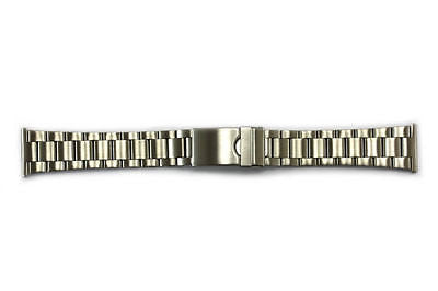 22mm Stainless Steel Metal (Silver Tone) Adjustable (6 Links) Watch Band Strap - Forevertime77