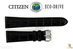 Citizen 59-S52220 Original Replacement 23mm Black Leather Watch Band Strap 59-S52103