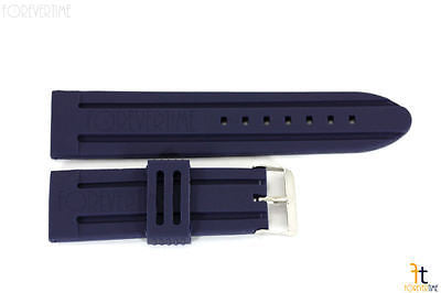 26mm Navy Blue Silicon Rubber Watch BAND Strap - Forevertime77