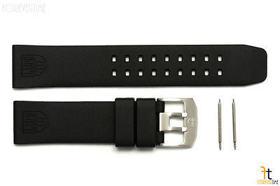 Luminox Colormark 3050 3080 23mm Black Rubber Watch Band w/2 Pins 3150 3180 - Forevertime77