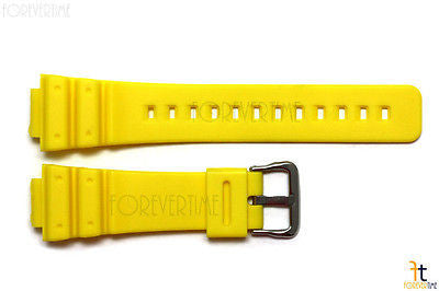 16mm Fits CASIO DW-6900 G-Shock  Yellow Rubber Watch BAND DW-6900B DW-6600 - Forevertime77