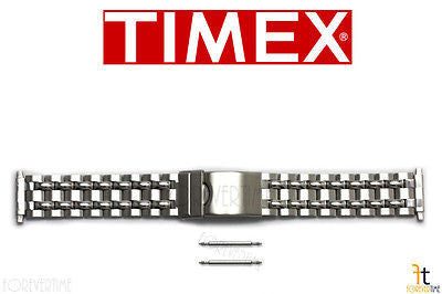 TIMEX Q7B873 16-20 mm Original Stainless Steel Watch BAND Strap w/ 2 Pins - Forevertime77