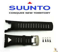 Suunto Ambit Original Black Silver Strap Rubber Watch Band Kit