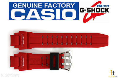 CASIO GA-1000-4B G-Shock Original Red Rubber Watch BAND Strap - Forevertime77