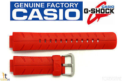 CASIO G-300C-4AV G-SHOCK Original 16mm Orange Rubber Watch Band Strap - Forevertime77