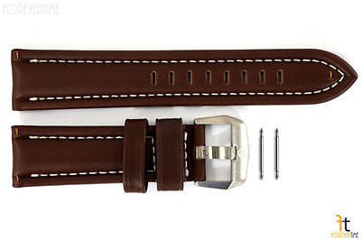Luminox 9200 F-22 Raptor 24mm Brown Leather Watch Band w/ Ivory Stitching 9247 - Forevertime77