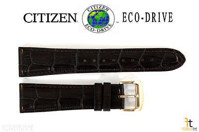 Citizen 59-S52482 Original Replacement 22mm Dark Brown Leather Watch Band Strap - Forevertime77
