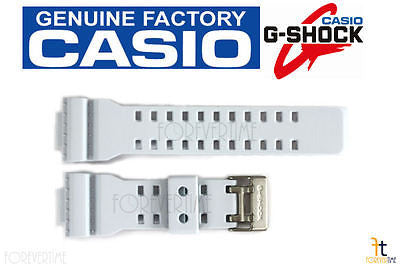 CASIO GA-110SN-7A G-Shock Original White (Off-White) Rubber Watch Band Strap - Forevertime77