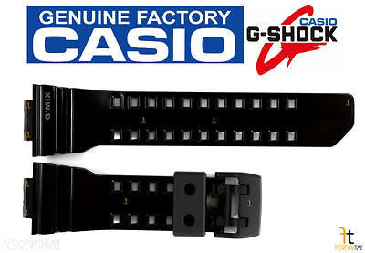 CASIO G-SHOCK G'Mix GBA-400-1A9 Original BLACK (GLOSSY) Rubber Watch Band Strap - Forevertime77