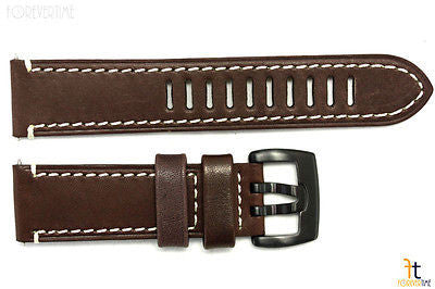 Luminox 1807 Field Auto 23mm Dark Brown Leather Watch Band Strap - Forevertime77