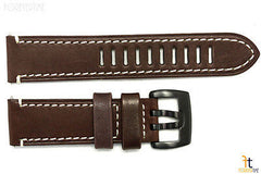Luminox 1807 Field Auto 23mm Dark Brown Leather Watch Band Strap