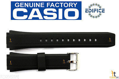 CASIO EF-552 Edifice 20mm Original Black Rubber Watch BAND Strap EF-552PB - Forevertime77