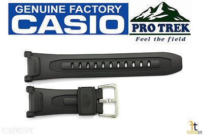 CASIO PRG-240-8 Pro Trek Pathfinder Original Charcoal Rubber Watch BAND Strap - Forevertime77