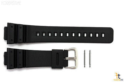 16mm Fits CASIO DW-6900 G-Shock Black Rubber Watch BAND Strap DW-6600 w/ 2 Pins - Forevertime77