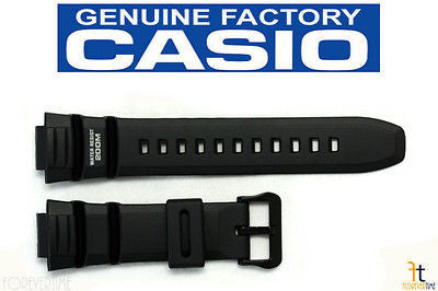 CASIO AE-2000W-1 Original 16mm Black Rubber Watch Band Strap WV-200 - Forevertime77