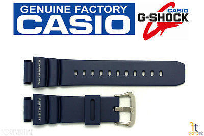 CASIO G-Shock G-9100-2 Original 21mm Dark Blue Rubber Watch Band Strap - Forevertime77