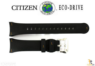 Citizen 59-T50860 Original Replacement Black Rubber Watch Band Strap - Forevertime77